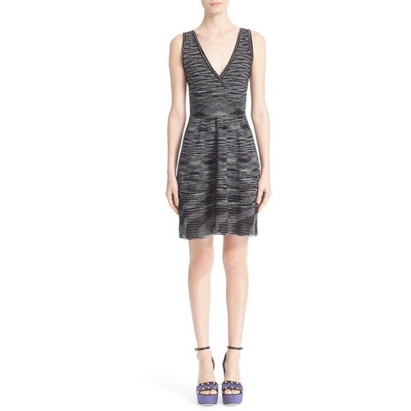 V-neck knit dress - Black M Missoni zDVV0tpHB