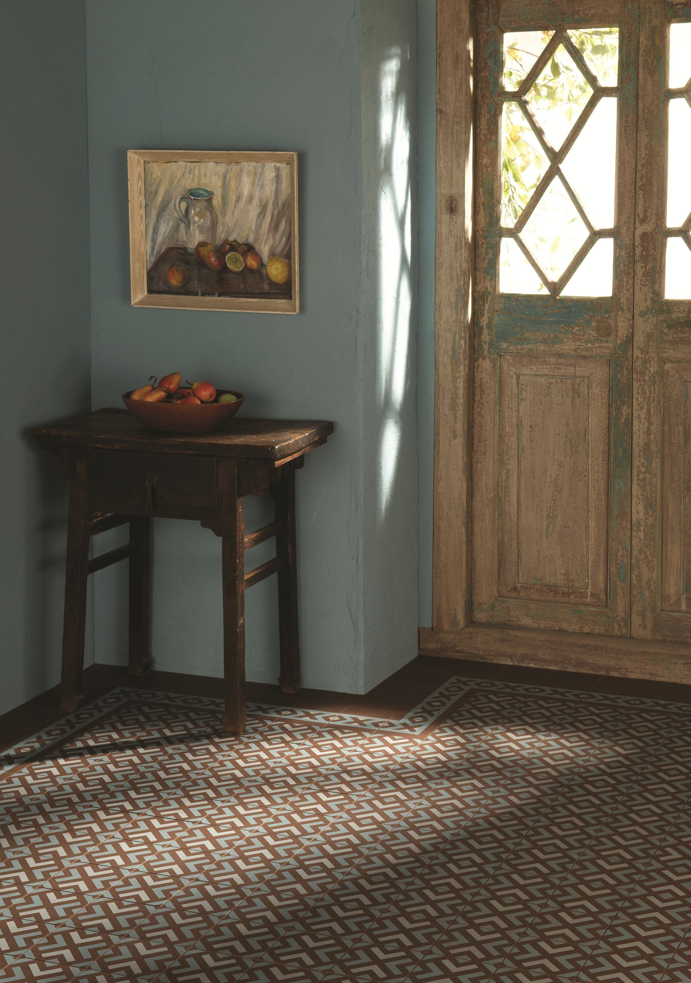 Blue And Brown Inca Tiles From The Odyssey Collection By Original Style Bold Tribal