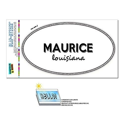 Euro Oval Window Bumper Laminated Sticker Louisiana LA City State Jac - Sco - Maurice