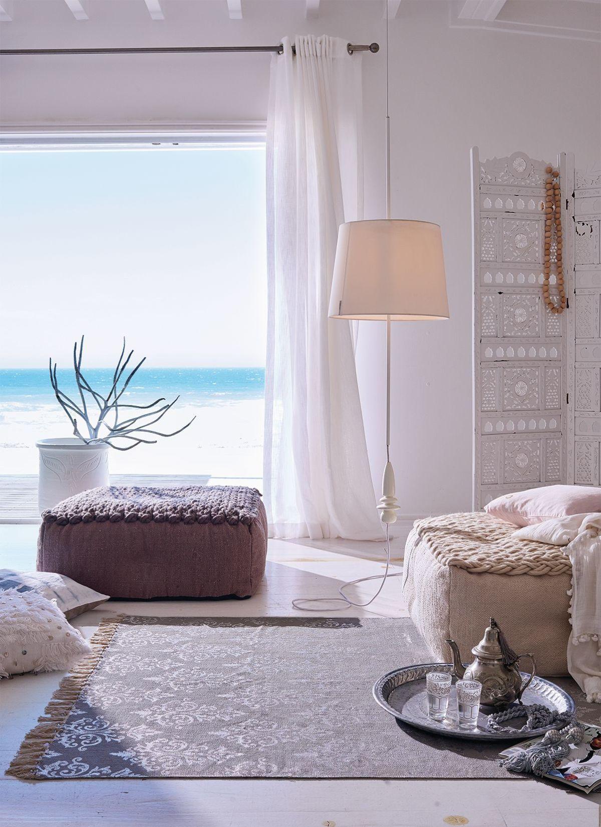 Bodenkissen Strick Look Baumwolle Wolle Sitzkissen Sitzmobel Living Home Decor Neutral Decor Home
