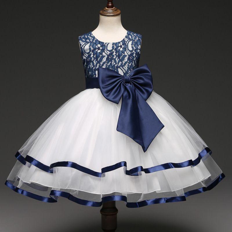 39a08464eafdb Elegant Sleeveless Princess Tulle Dress in Blue for Girls | PatPat ...