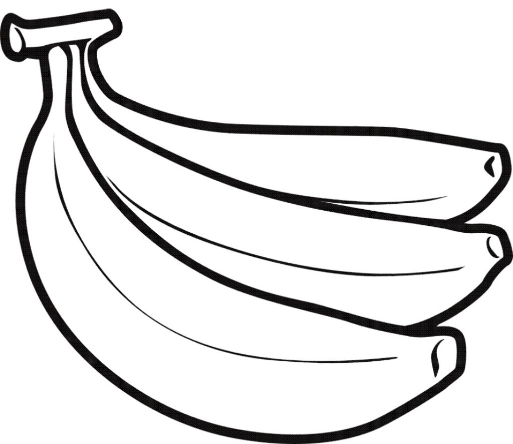 Drawing Of A Banana Drawing Clipart Best