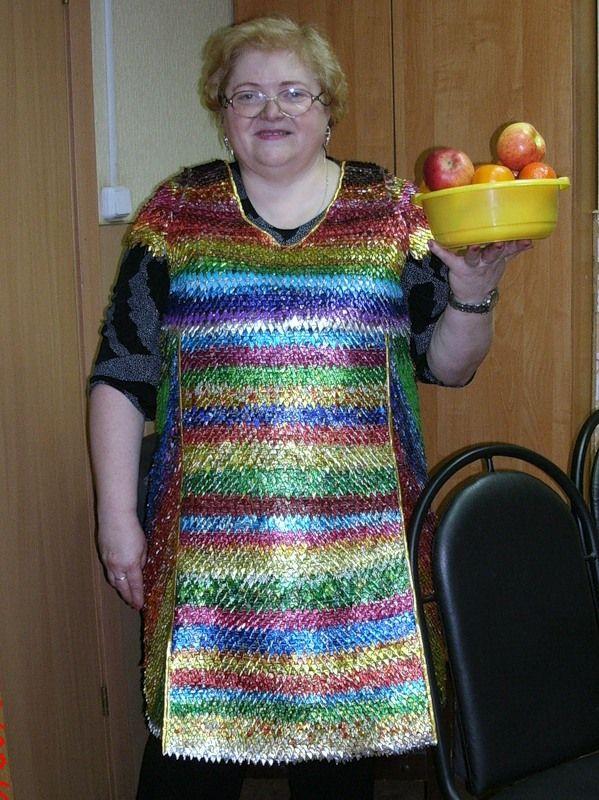 Как сделать платья из фантиков