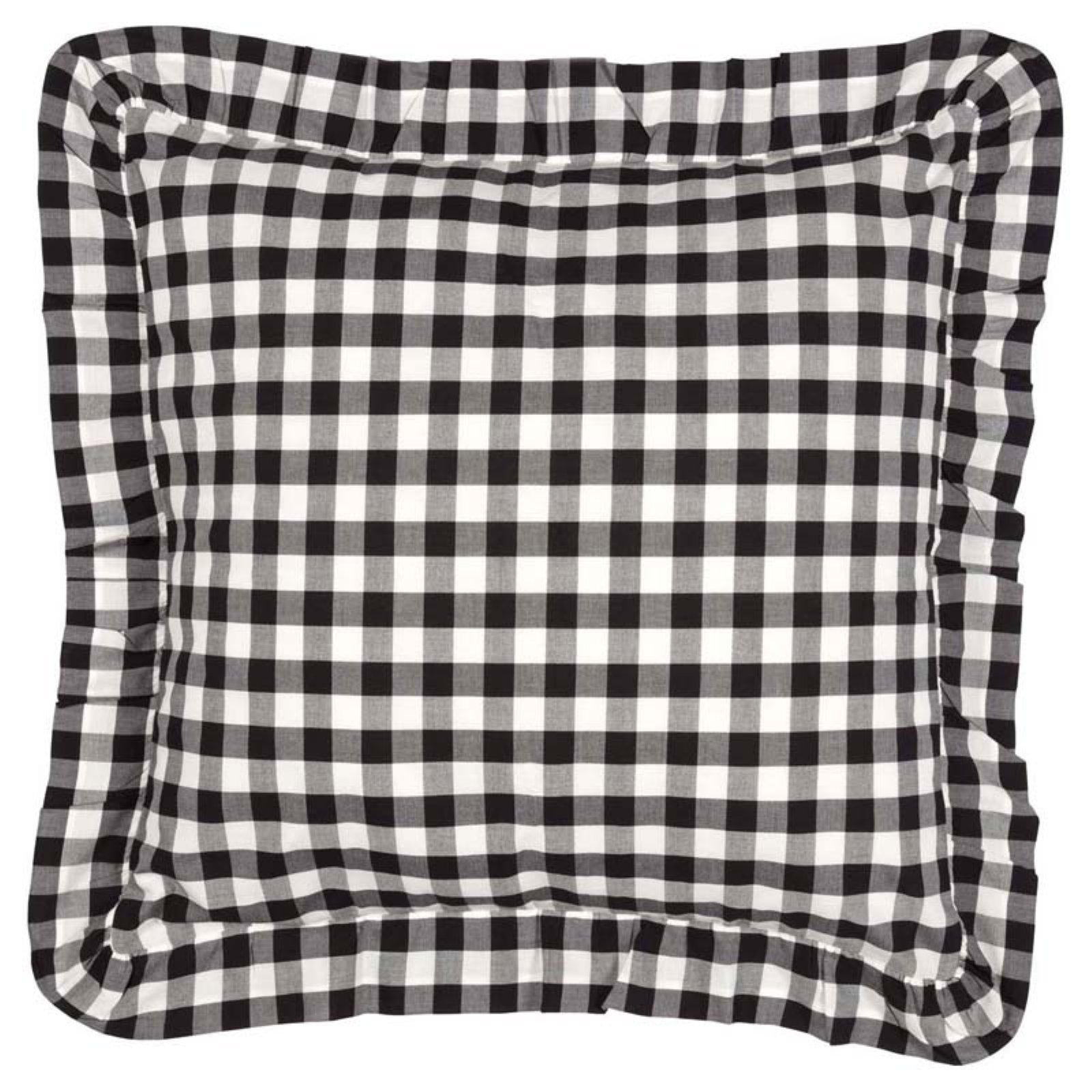 Annie Buffalo Check Fabric Euro Sham By Vhc Brands Black Buffalo Check Fabric Check Fabric Buffalo Check