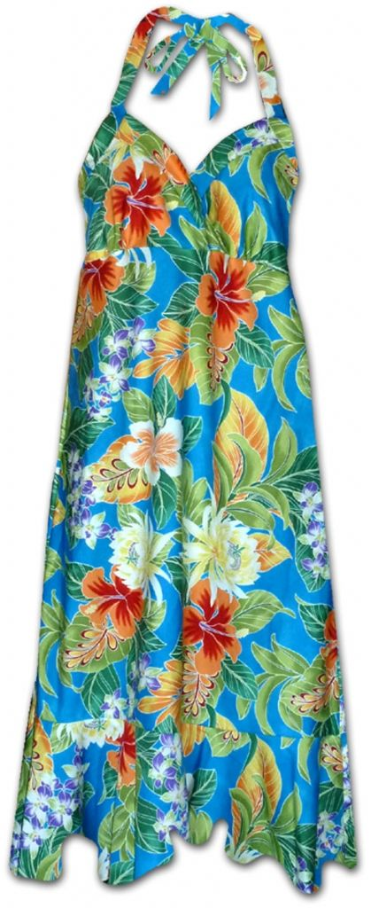 Maui Tropics Hawaiian Halter Dress