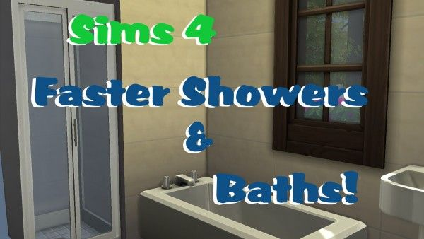Mod The Sims Faster Showers Baths By Polarbearsims Sims 4 Downloads Sims 4 Shower Bath Shower