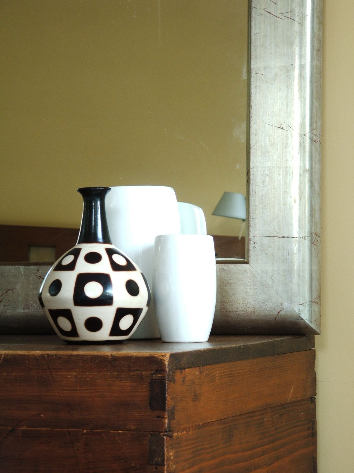 Espejo con marco bomb plateado a la hoja ideas marcos - Espejos con marco plateado ...