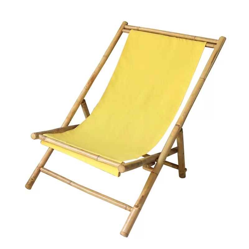 Bayou Breeze Atalya Reclining Folding Beach Chair Folding Beach Chair Beach Chairs Deck Chairs