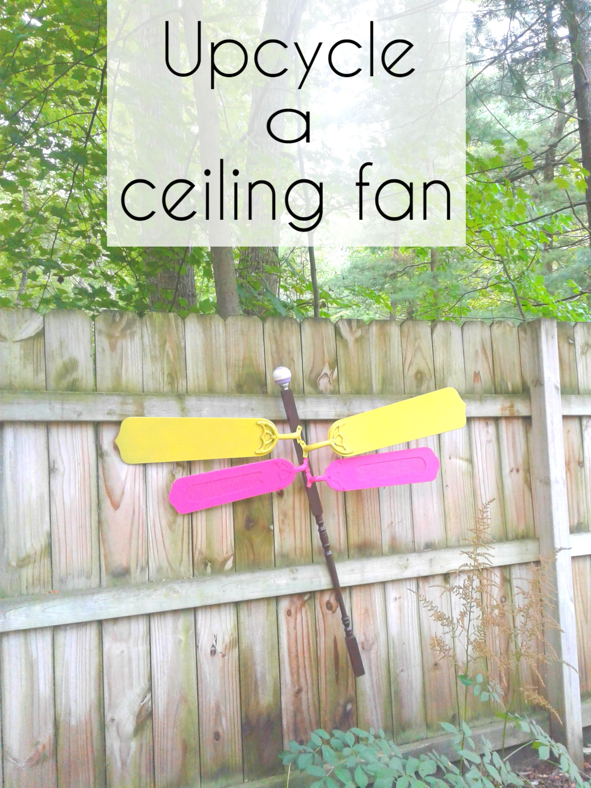 Upcycle ceiling fan blades into a dragonfly for garden decor or yard ...