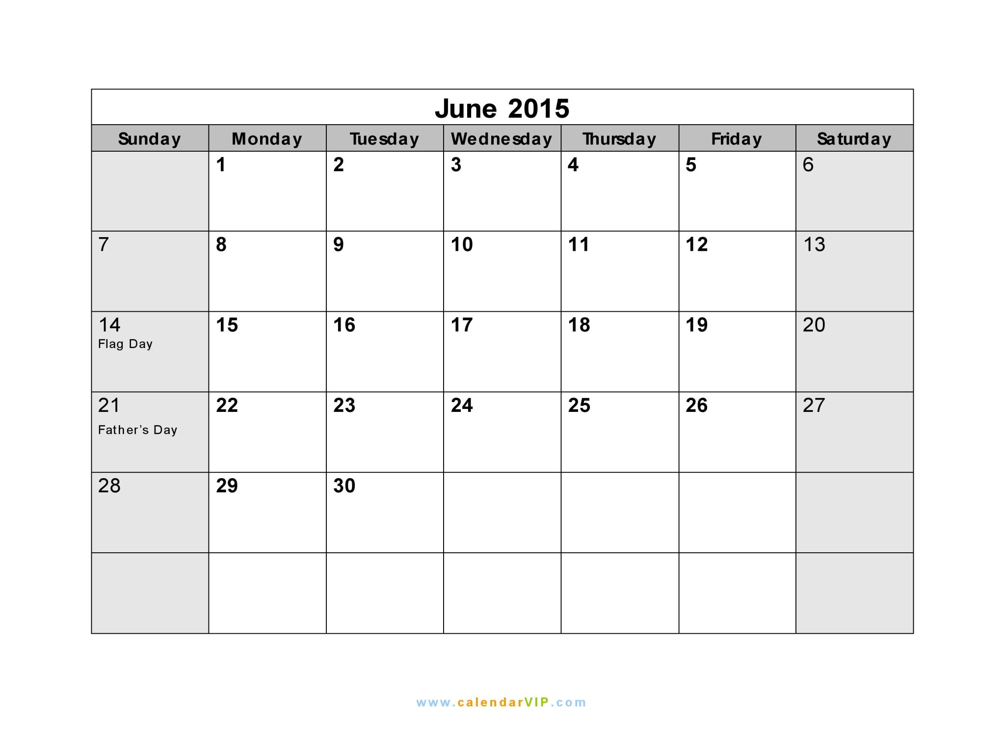 template 2015 calendars june 2015 calendar