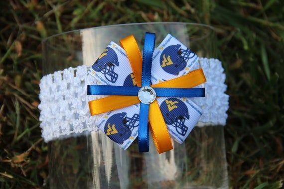 West Virginia University Headband WVU Mountaineers Bow Morgantown Headband or Hair Bow (baby/child/adult) WVU pin brooch #wvumountaineers West Virginia University Headband WVU Mountaineers Bow Morgantown Headband or Hair Bow (baby/child/a #wvumountaineers