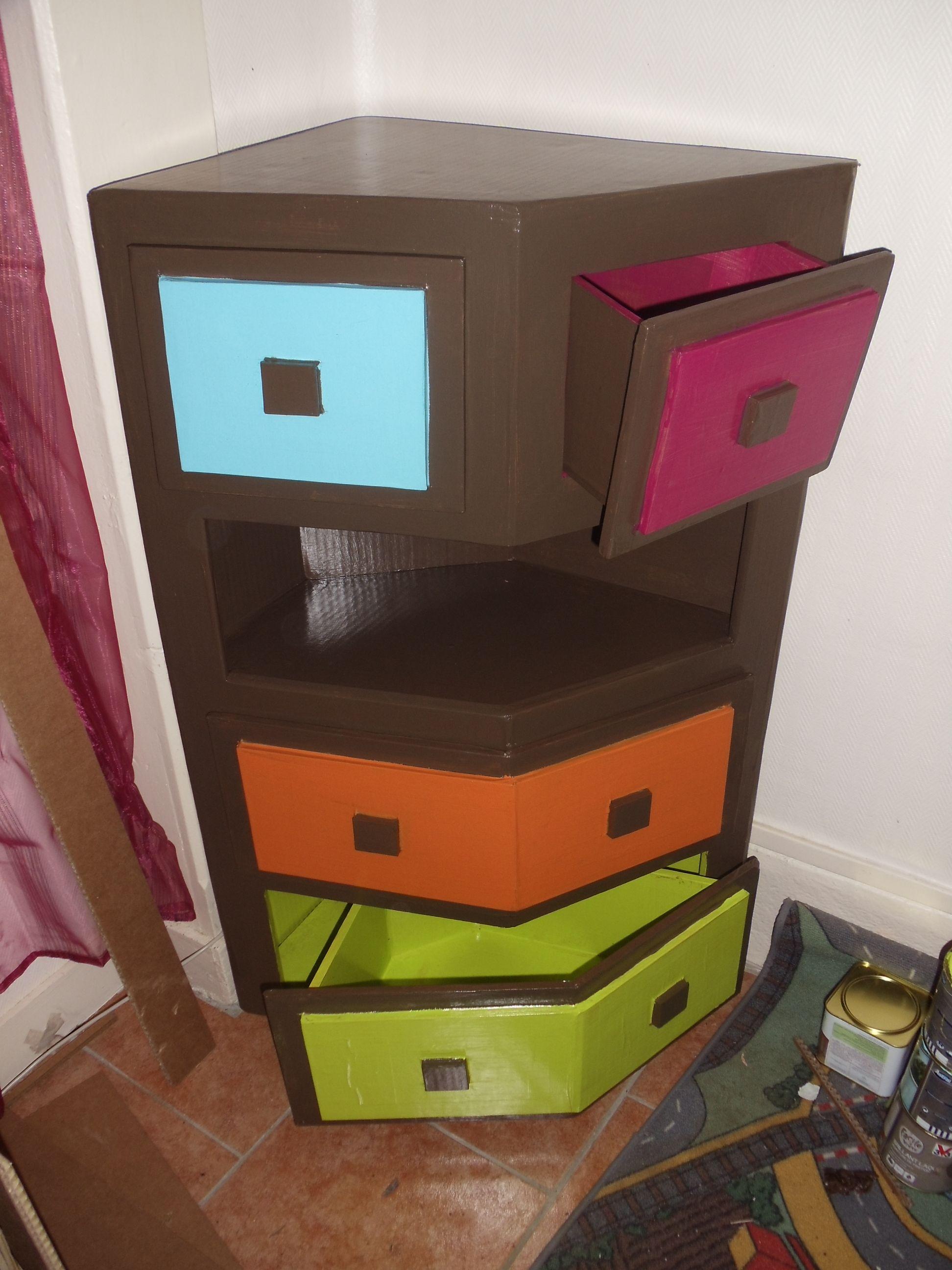 Meuble d 39 angle meuble en carton design en carton et Meuble rangement design