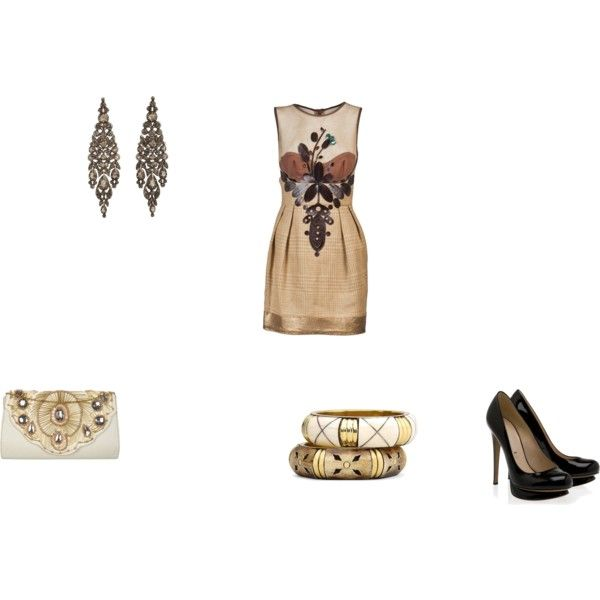 A fashion look from April 2011 featuring CESAR ARELLANES dresses, Nicholas Kirkwood pumps and Miss Selfridge clutches. Browse and shop related looks.