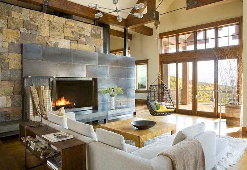 Creative Way To Use The Modern Rustic Style By Studio 80 Interior Design Modern Rustic Living Room Contemporary Rustic Living Room Interior Design Rustic