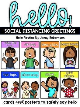 Hello! Social Distancing Greetings |  Morning Meeting |  Relationship Building
