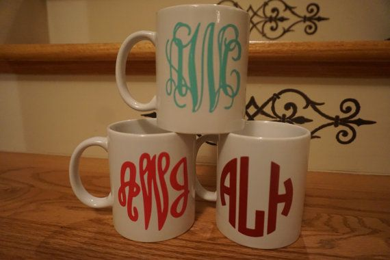Monogrammed Mug by SCSouthern on Etsy