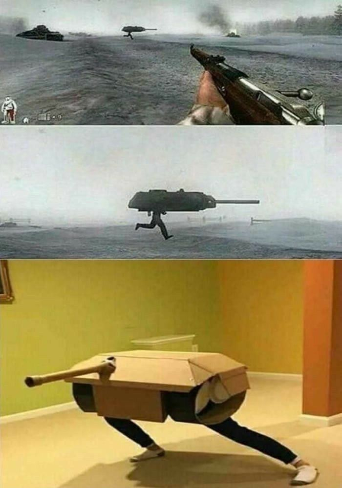 The first prototype mobile suit tank seen on camer
