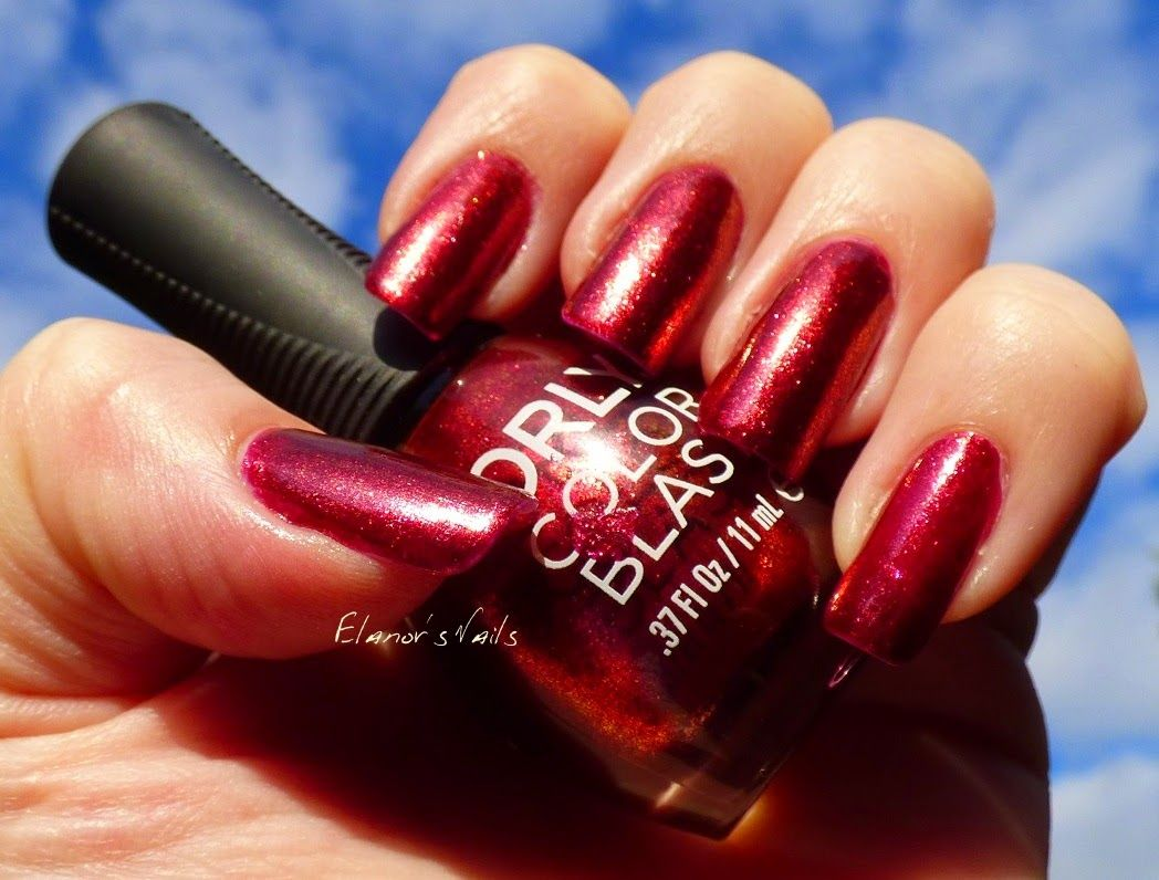 Hair amp nail choices aiibeauty - Elanor S Nails Orly Color Blast Magenta Color Flip