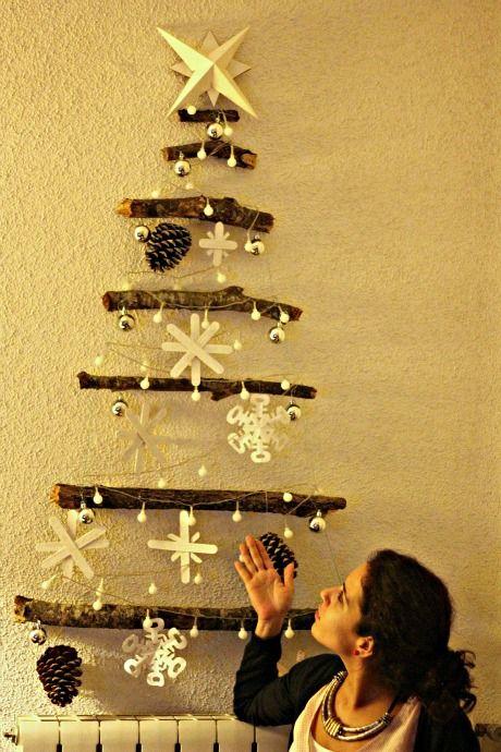 El sofa amarillo arbol de navidad con ramas 5 navidad - Arbol de navidad con ramas ...