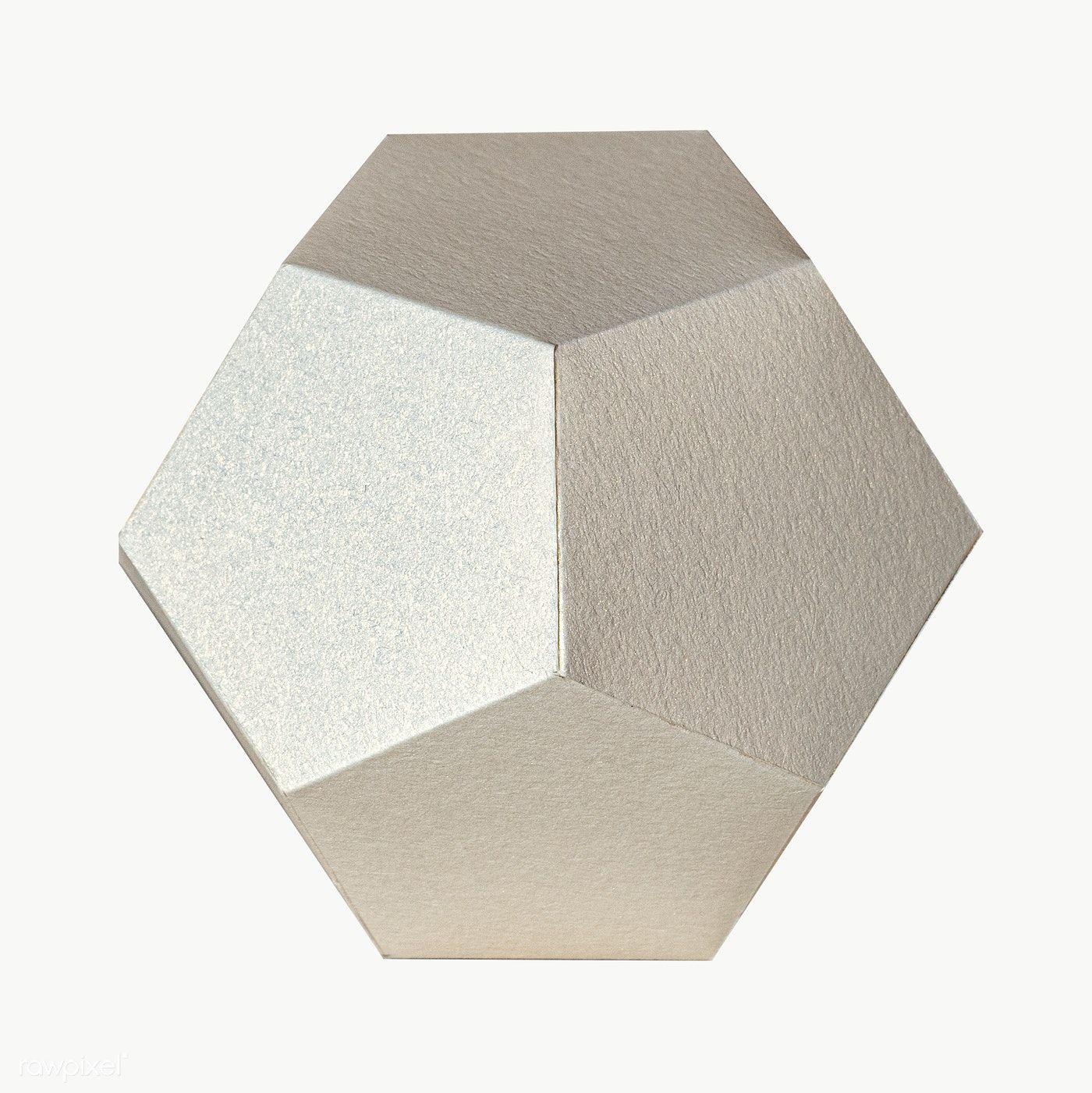 3d Silver Pentagon Paper Craft Design Element Free Image By Rawpixel Com Jira Design Element Pentagon Logo Design Crafts