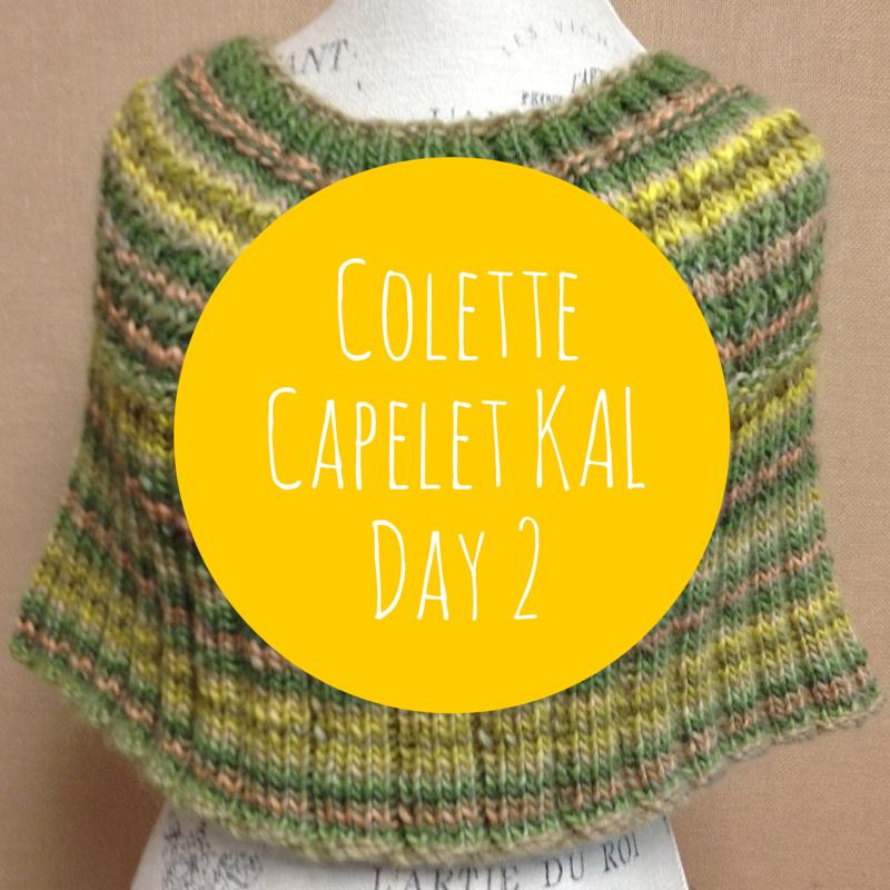 Colette Capelet Knit Along Day 2
