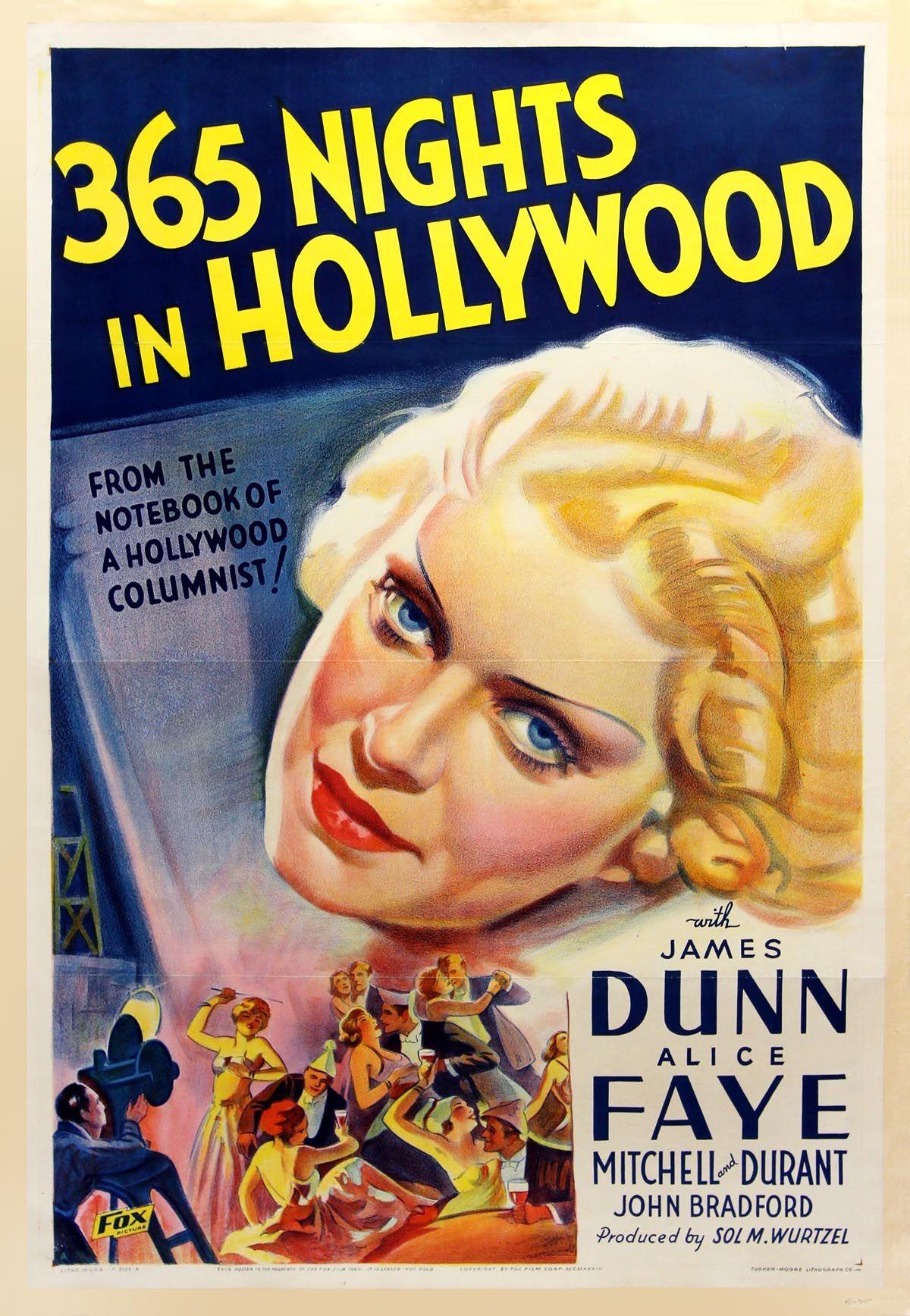 365 nights in hollywood 1934 original vintage movie