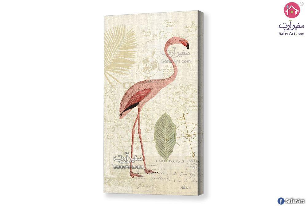 تابلوه لطائر الفلامنجو سفير ارت للديكور Flamingo Painting Art Painting