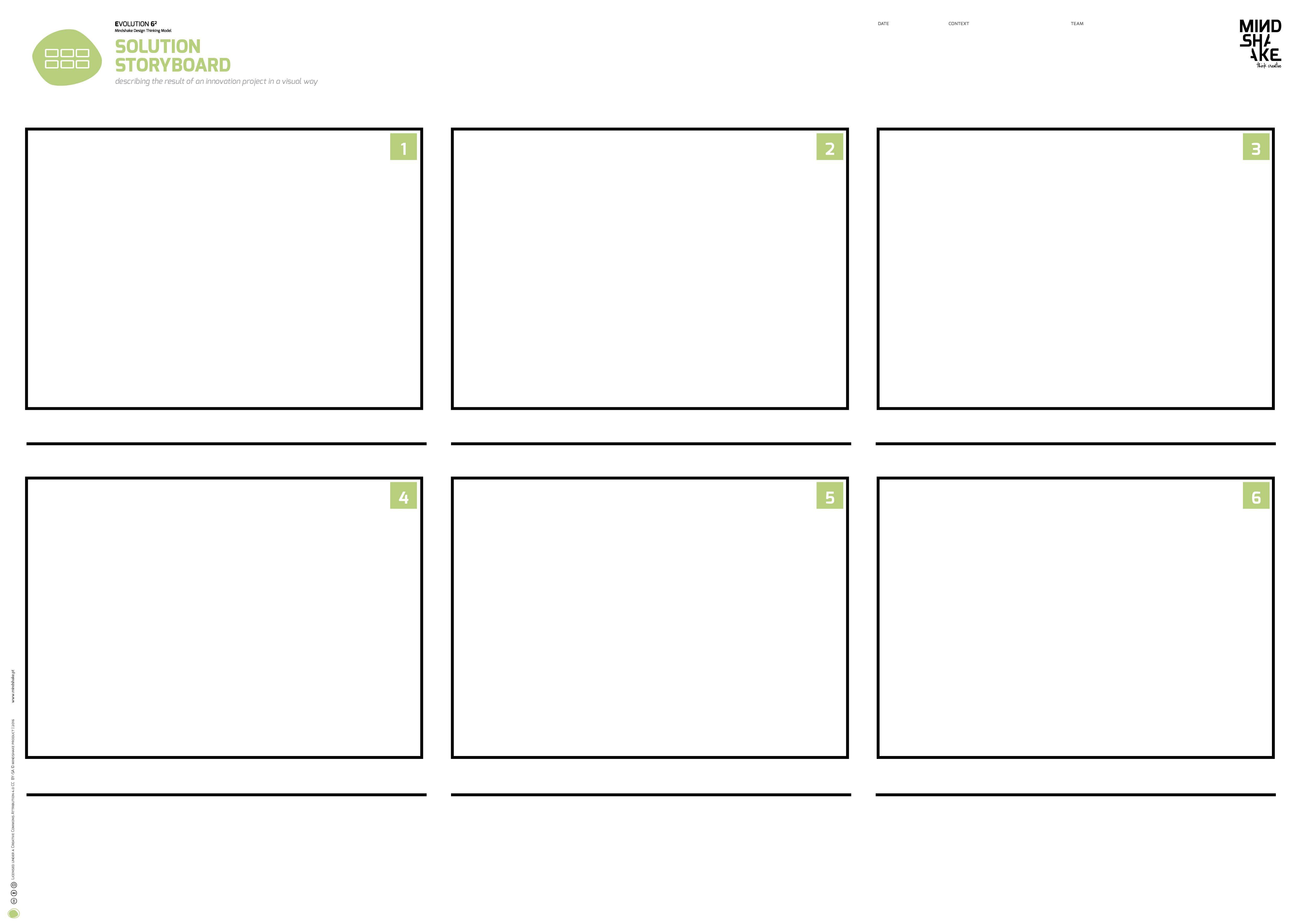 Solution Storyboard Mindshake Design Thinking TEMPLATES