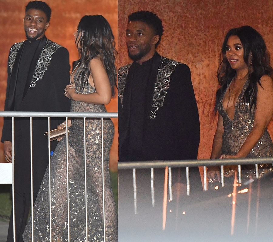Black Cosmopolitan Look Who Actor Chadwick Black Panther Boseman Left The Oscars With Africandiaspora Chadwick Black Celebrities Black Panther