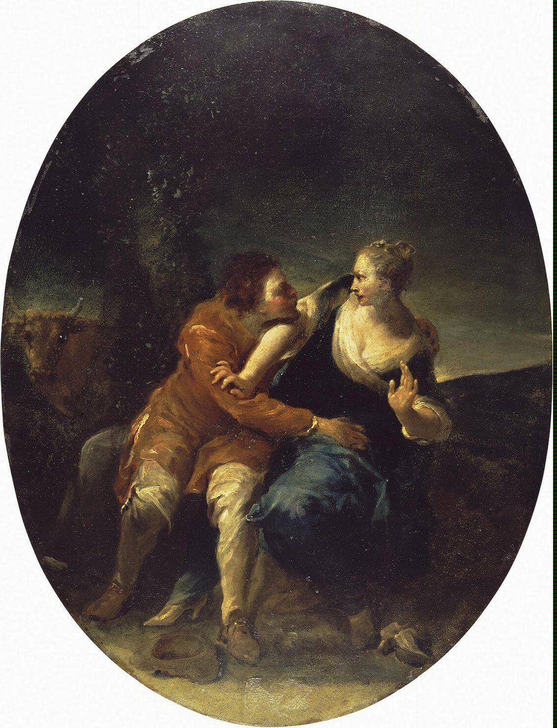 Genre barock  Genre Scene Persistent Cavalier - Crespi Giuseppe Maria (Lo ...