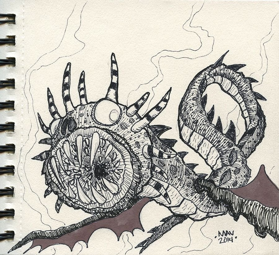 Whispering Death from How to Train Your Dragon - daily sketch - new how to train your dragon screaming death coloring pages