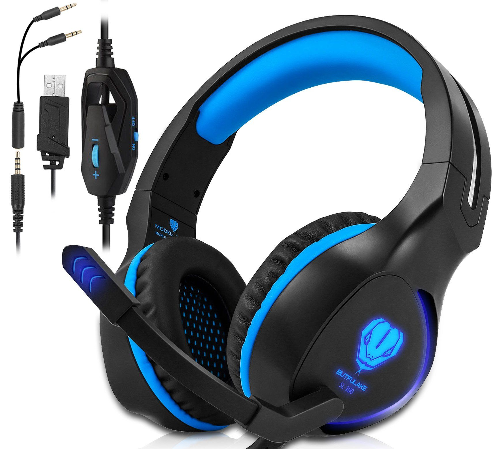 Xbox One Ps4 Gaming Headset Headphones With Mic And Led Light For Laptop Computer Stereo Gamer Headphone Gaming Headset Ps4 Gaming Headset Gaming Headphones