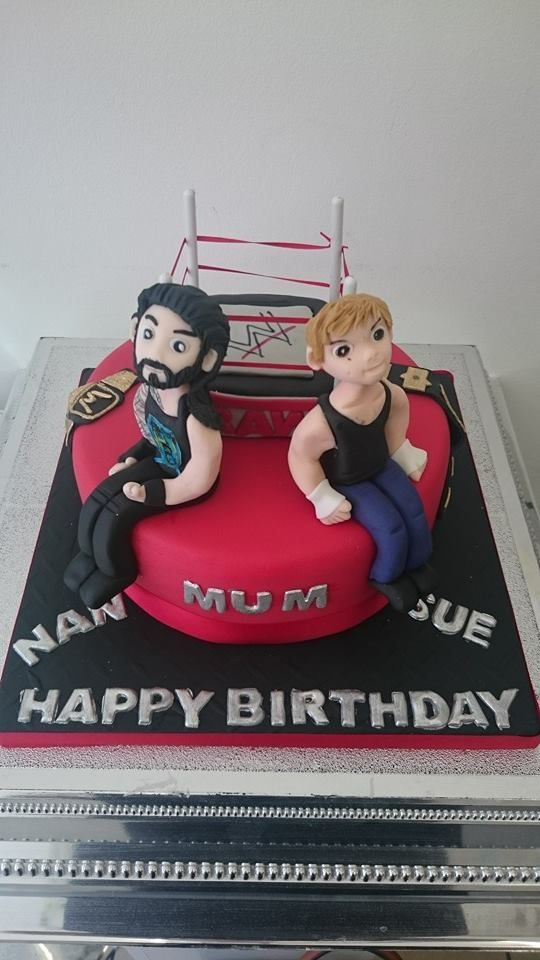 Sues Wrestling Themed Birthday Cake Hobbies And Sport Cakes