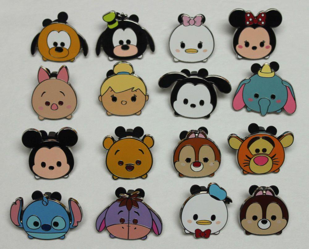 Disney Tsum Tsum Mickey Minnie Donald Pluto Stacked Classic Character Disney Pin