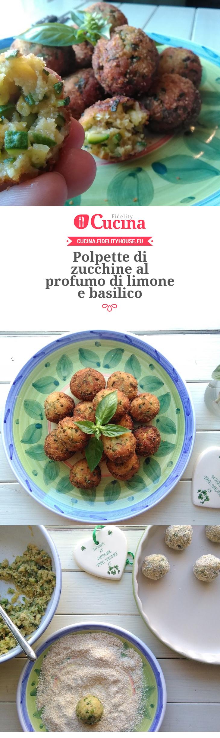 Polpette di zucchine al profumo di limone e basilico for Cucinare vegetariano
