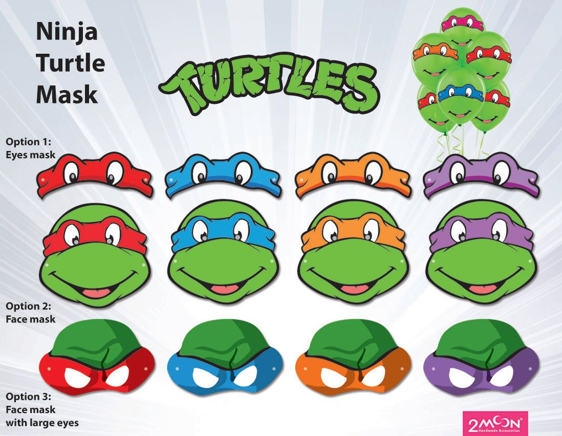 Template For Ninja Turtle Mask Google Search Ninja Turtles