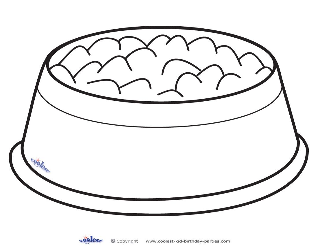 Printable Dog Bowl Decoration Dog Template Dog Bowls Puppy Crafts