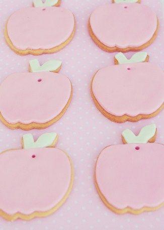 Pink apple sugar cookies