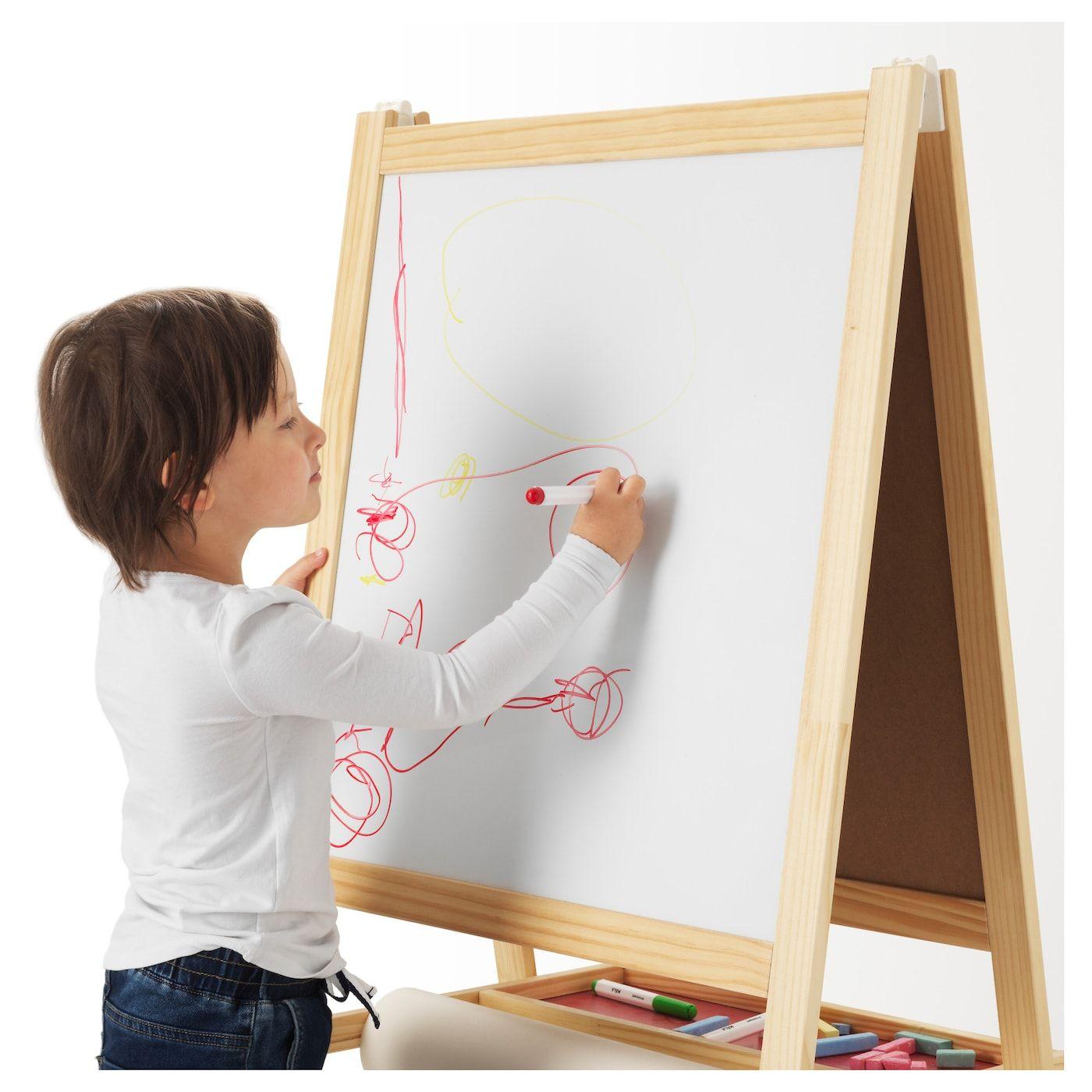 Ikea mala softwood white easel easel ikea whiteboard pens