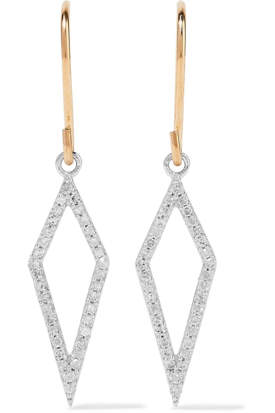 Shop on-sale Adina Reyter 14-karat gold, sterling silver and  diamond earrings. Browse other discount designer Jewelry & more on The Most Fashionable Fashion Outlet, THE OUTNET.COM