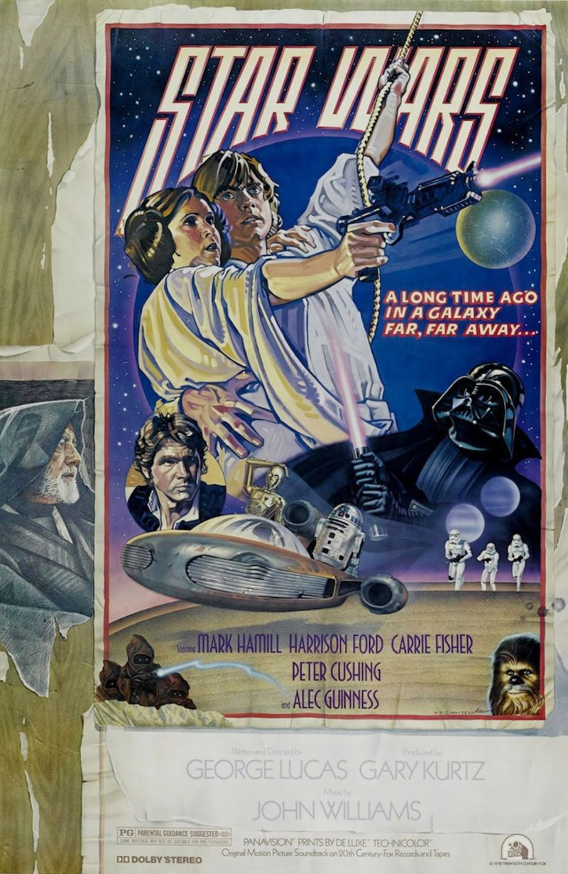 #starwars old poster. USA, 1977.