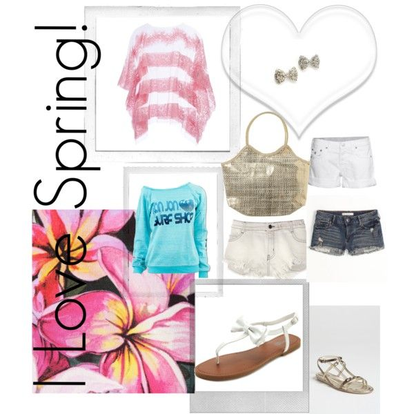 I Love Spring, created by breana-olvera on Polyvore