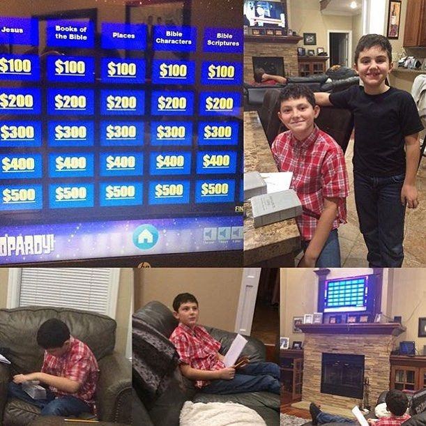 adrianamcgee shares: family worship tonight was bible jeopardy. we, Modern powerpoint