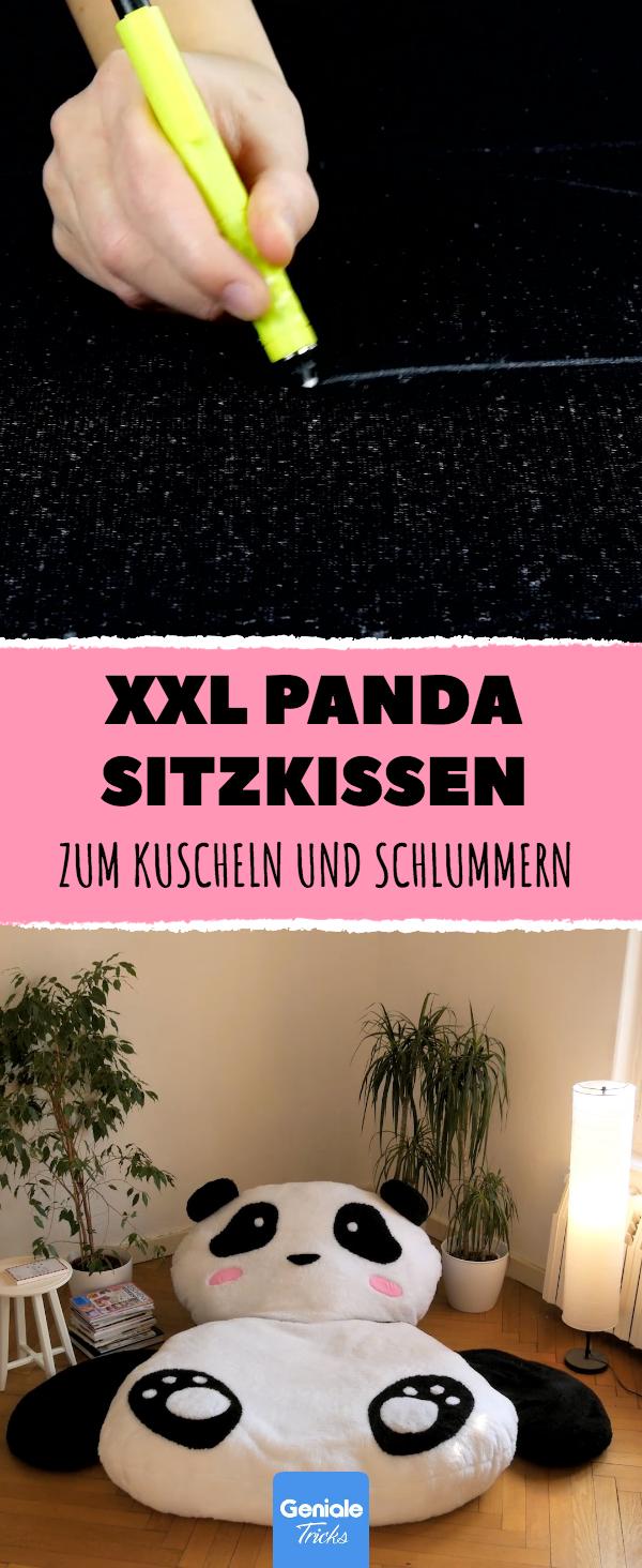 niedlich weich und soooo gro dieses panda sitzkissen ist eigentlich zu sch n um wahr zu sein. Black Bedroom Furniture Sets. Home Design Ideas