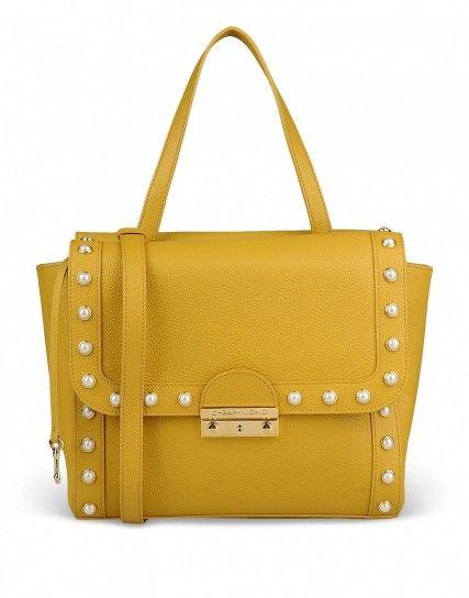Handbag ocra Moschino Cheap and Chic
