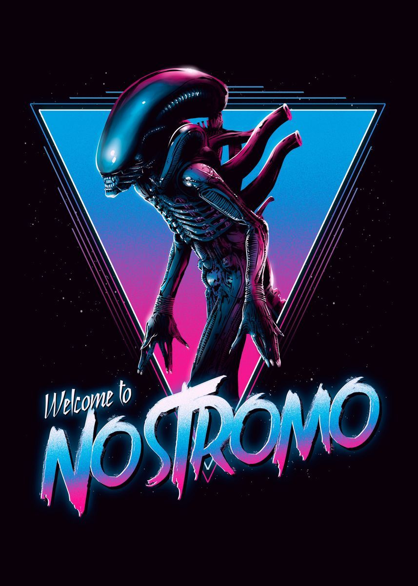 'Welcome to Nostromo' Poster Print by Denis Orio Ibañez | Displate