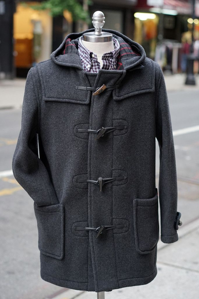 Gloverall Slim Duffle Coat Charcoal | PD: Laurie | Pinterest ...