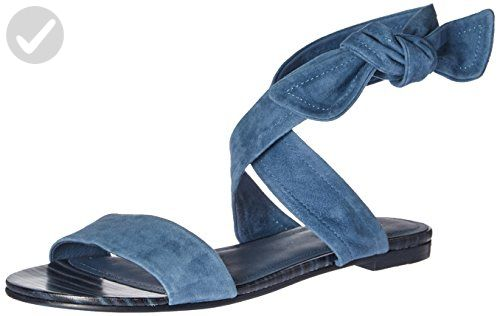 Pour La Victoire Women's Lava Flat Sandal, Ocean Blue/Sapphire, 8 M US - All about women (*Amazon Partner-Link)