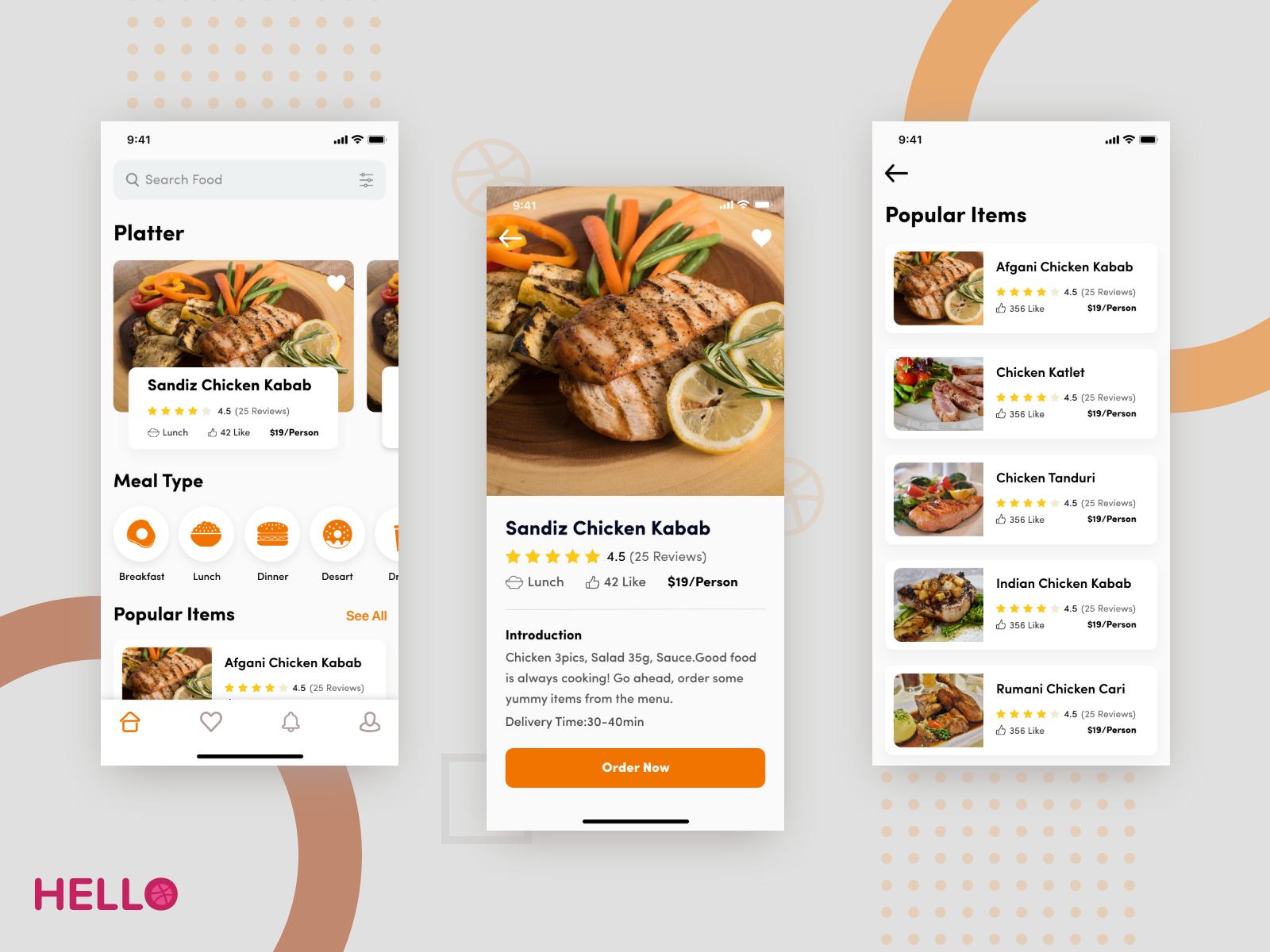 Food Delivery App | mobile ui_restaurant&foods | Delivery app, App