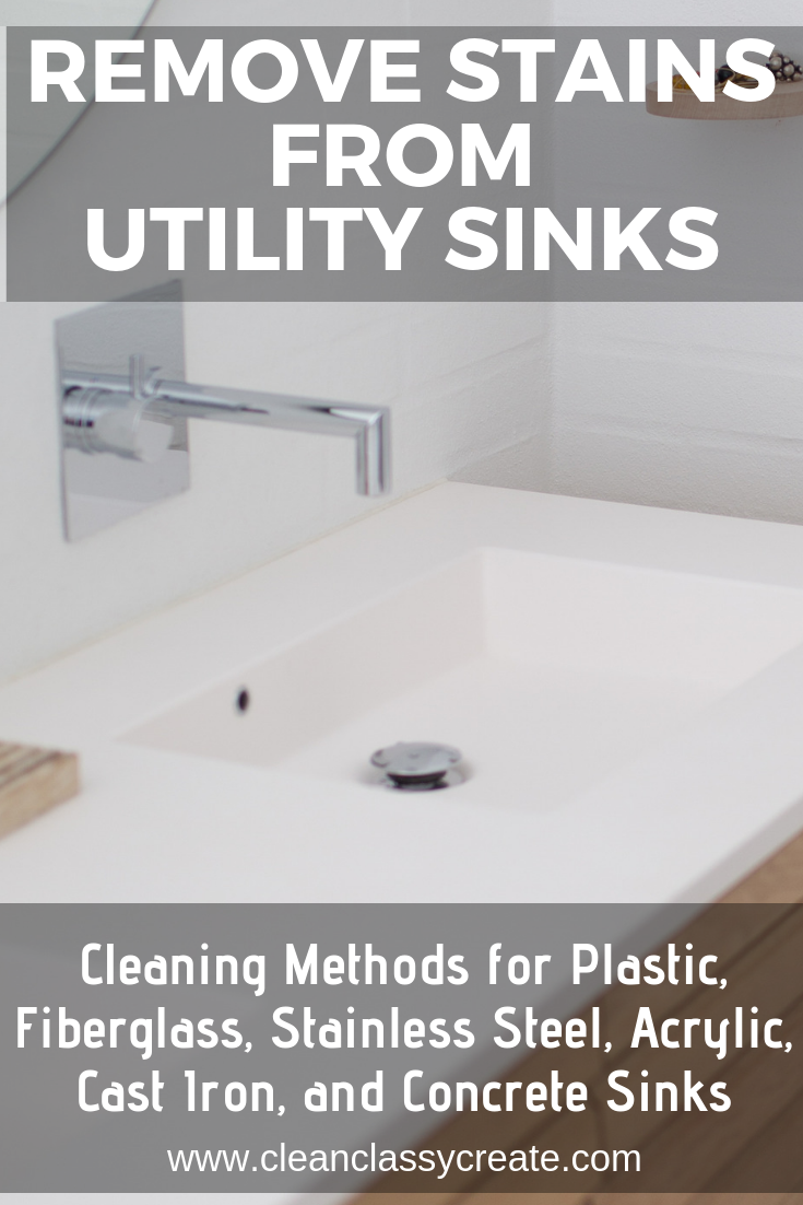 Remove Stains From Utility Sinks Cleaning Methods For Plastic